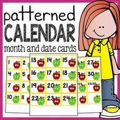 Calendar Numbers - Calendar Cards with Patterns - The Super Teacher Preschool Lesson Plans, Preschool Curriculum, Free Preschool, Preschool Classroom, In Kindergarten, Math Activities, Classroom Ideas, Preschool Ideas, Preschool Learning
