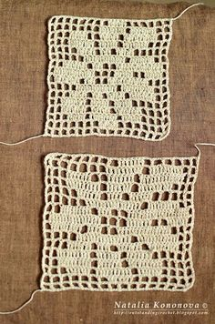 Outstanding Crochet: How to get a true square in filet crochet. This explains why my finished projects come out too wide!