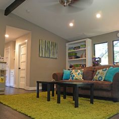 """Family Room Sherwin Williams """"Intellectual Gray"""" 704 Design Ideas, Pictures, Remodel, and Decor"""