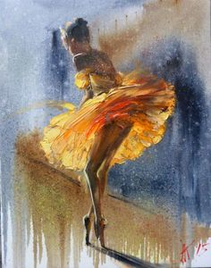 ARTFINDER: Ballerina, oil painting 35x45 cm by Anastasiya Kachina - oil on canvas unframed If you want to buy a few pictures, send me a message and delivery is only one picture! Thank you!