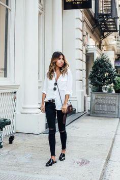 28 Looks En Blanco Y Negro Que Te Encantarán | Cut & Paste – Blog de Moda