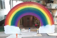 Rainbow in the making