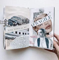 Planner Bullet Journal, Bullet Journal Art, Bullet Journal Ideas Pages, Art Journal Pages, Sketch Journal, Kunstjournal Inspiration, Art Journal Inspiration, Collage Book, Book Art