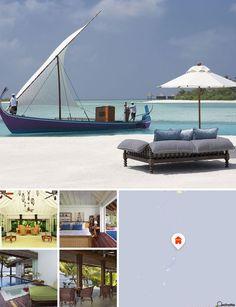 Areias de ilha tropical, palmeiras ondulantes e águas azul-turquesa infindáveis aguardam os hóspedes neste exclusivo resort nas Maldivas. O hotel encontra-se na ilha de Veligandu Huraa, por entre o agrupamento de ilhas preciosas que compõem o atol de Malé sul, banhada pelas águas azuis do Oceano Índico. Está rodeado pelas belíssimas areias brancas de uma praia perfeita nas Maldivas, acentuada pelos variados tons de verde do coqueiro tropical.