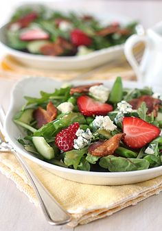 The Galley Gourmet: Spring Garden Strawberry Salad