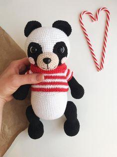 Crochet Bear/ Amigurumi Panda/ Crochet Panda Pattern/ Panda | Etsy Crochet Panda, Crochet Rabbit, Crochet Elephant, Crochet Bunny, Crochet Patterns Amigurumi, Crochet Dolls, Cat Amigurumi, Cat Doll, Cat Pattern