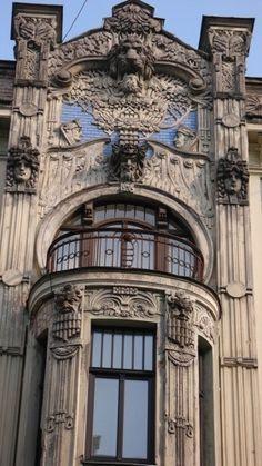 Riga, Latvia: Art nouveau buildings in the old town of Riga, Latvia >> Explores our Deals!