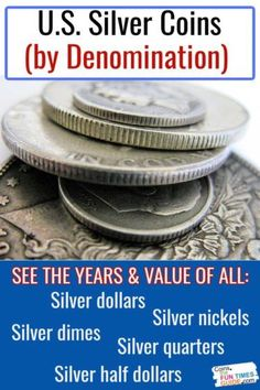 Silver Coins Worth, Old Silver Coins, Silver Dimes, Coin Collection Value, Silver Dollar Value, Rare Coin Values, Old Coins Value, Silver Penny, Old Coins Worth Money