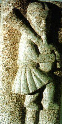 Gaireito Galego, esculpido na igreja de São Francisco, Betanzos, A Coruña. Sec. XIV