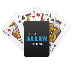 IT'S A ALLEN THING! PLAYING CARDS