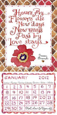 2012 Magnetic Susan Branch Calendar: i have this on my refridgerator
