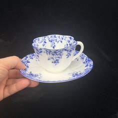 A personal favorite from my Etsy shop https://www.etsy.com/ca/listing/469446329/vintage-shelley-dainty-blue-teacup-and