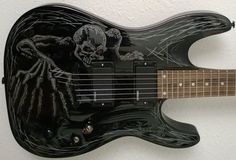 Custom Painted Electric Guitar Dean Vendetta Select by JaLWorks, $325.00