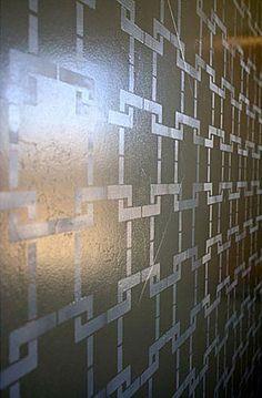 Missing Link Allover Stencil  See more Geometric/Allover Stencils: http://www.cuttingedgestencils.com/wall-stencils-geometric-stencils.html  #geometric #allover #stencils