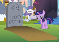 She killed him with cuteness. Maybe I can bring him back with Maud's rock (excuse me bolder)