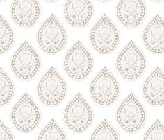 Mumbai in khaki fabric by domesticate on Spoonflower - custom fabric