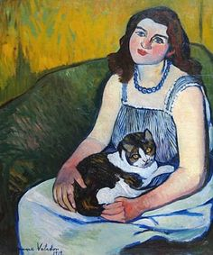Suzanne Valadon - Girl with Cat, 1919