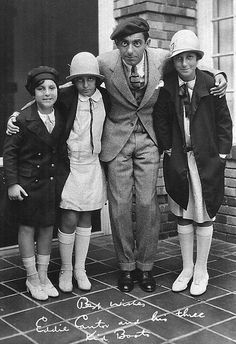 File:Eddie Cantor and daughters ad postcard 1926