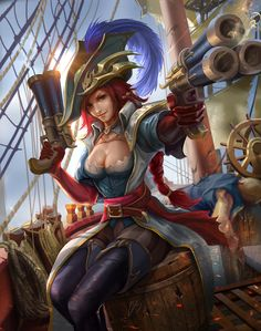 League of Legends - Captain Fortune fanart by derrickSong.deviantart.com on @DeviantArt