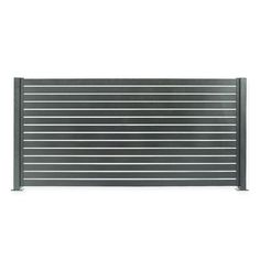 Metal Privacy Fence With Horizontal Slat Fencing Aluminium