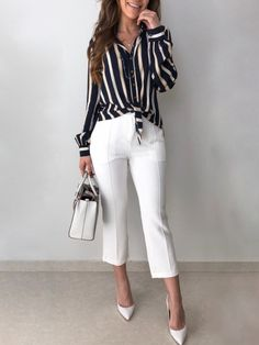Ideas Womens Business Casual Pants White Jeans For 2019 Business Casual Outfits, Edgy Outfits, Cute Outfits, Fashion Outfits, Womens Fashion, Fashion Clothes, White Jeans Outfit, Classy Casual, Work Fashion