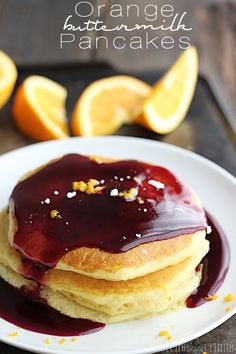 Orange Buttermilk Pancakes