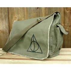 Messenger Bag, Hand Painted ... Harry Potter Deathly Hallows - Polyvore