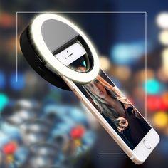 Universal selfie dipimpin cincin lampu flash mengisi klip kamera untuk telepon untuk iphone untuk samsung smart phone