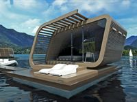 Floating suite Iris 01, is a structure designed to house a comfortable double room with bed, bath tub, fantastic deck and awesome views. Would love to sleep here!