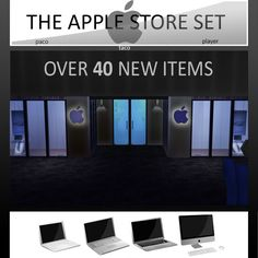 Mod The Sims - The Apple Store Set - Over 40 NEW Items *INCLUDING MACBOOK AIR*