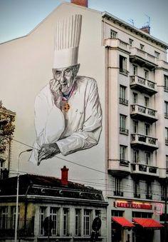 Fresque Paul Bocuse - Halles de Lyon - 102 cours Lafayette 69003