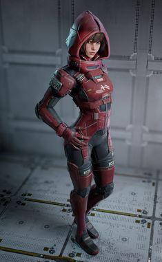 I like the hood Moda Cyberpunk, Cyberpunk Girl, Arte Cyberpunk, Cyberpunk Fashion, Steampunk Fashion, Gothic Fashion, Character Concept, Character Art, Zbrush Character
