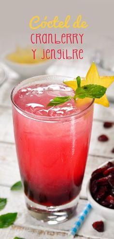 Este cóctel de vodka con cranberry y jengibre es espectacularmente delicioso. Tiene un sabor que no has probado por la combinación del jengibre con el arándano y un poquito de limón amarillo para contrastar.