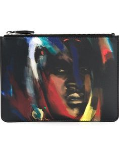 GIVENCHY abstract face clutch