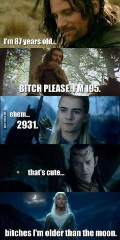 """Bilbo be like """"I am over 111"""""""