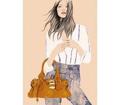 Le sac Paddington de Phoebe Philo - collection Chloé printemps-été 2005 - dans une finition inédite et seulement édité à 60 exemplaires  Le jean Camera de Phoebe Philo - collection Chloé printemps-été 2004