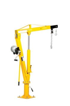 Vestil WTJ-2 Winch Operated Truck Jib Crane, Welded Steel, 1000 lbs Retracted Capacity, 56 Overall Height, Yellow « AUTOMOTIVE PARTS & ACCESSORIES AUTOMOTIVE PARTS & ACCESSORIES