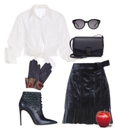 """""""Untitled #2505"""" by applelula on Polyvore featuring Johanna Ortiz, 3.1 Phillip Lim, Brunello Cucinelli, Dsquared2, Gizelle Renee and Gucci"""