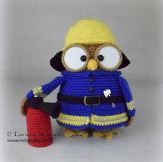 Firette the owl  amigurumi PDF crochet pattern от Nowacrochet