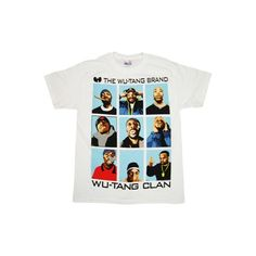 Wu Tang Clan Brand T Shirt ($20) ❤ liked on Polyvore featuring tops, t-shirts, shirts, tees, tee-shirt, shirt tops and t shirt