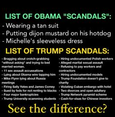 """There is """"Gigantic Difference"""" between President Obama and Trump! For starters Integrity, Decency, Intelligence and too many more to mention! Hell, there's a big difference between Trump and every President before him, Democrat or Republican! Trump Is A National Disgrace!!!"""