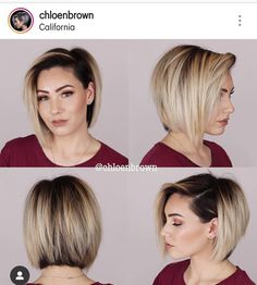 Pin by Tamara Spencer on hair! Cute Hairstyles For Short Hair, Short Hair Cuts, Short Hair Styles, Haircut And Color, Hair Color And Cut, Lob Hairstyle, Stylish Hair, Pixie Haircut, Hair Today