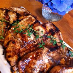 Balsamic Chicken Breasts. Dave said this might be his favorite marinade I've made!  I like it...probably would be great on pork tenderloin.