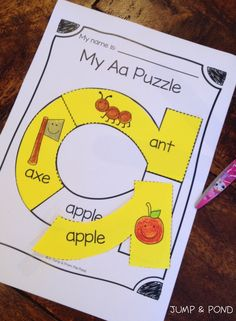 Alphabet Puzzle Worksheets - just bought Kindergarten Language Arts, Preschool Letters, Learning Letters, Kindergarten Literacy, Preschool Learning, Preschool Activities, Alphabet Worksheets, Printable Alphabet, Kids Worksheets