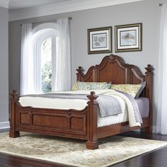 Home Styles Santiago Panel 3 Piece Bedroom Set Size: King/California King 5 Piece Bedroom Set, Kids Bedroom Sets, Bedroom Furniture Sets, Bed Furniture, Girls Bedroom, Bedrooms, Bedroom Decor, Furniture Stores, Bedroom Suites