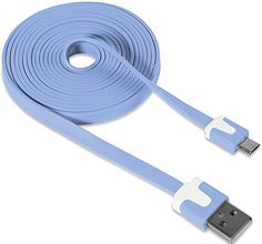 "myLife Light Denim Blue {Neon Colored Flat Noodle Design} 6' Feet (1.8 Meter) Quick Charge USB 2.0 Micro USB to USB Data Sync Cord for Phones, Cameras, Tablets and GPS Devices ""SEE COMPATIBILITY"" (Durable Rubber Coat) myLife Brand Products http://www.amazon.com/dp/B00NY94802/ref=cm_sw_r_pi_dp_Tm-tub00RZWGC"