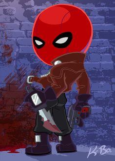 Bat-Villains: Red Hood Art Card by kevinbolk.deviantart.com on @deviantART