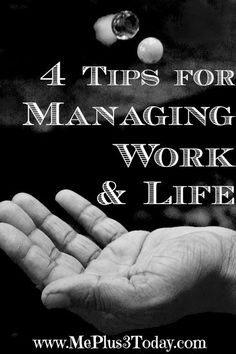 October is National Work & Family Month - Click here to see 4 valuable resources full of tips to help manage work and life. - Work-Life Wednesday Series from www.MePlus3Today.com