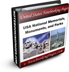 Notebooking pages about Memorials & Monuments - Memorial Day activities for kids {Weekend Links} from HowToHomeschoolMyChild.com