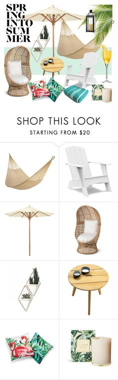 """summer"" by soy-sony-gg on Polyvore featuring interior, interiors, interior design, hogar, home decor, interior decorating, Loll Designs, Ballard Designs, Improvements y Umbra"